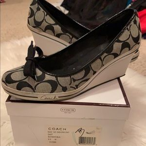 Coach Wedges Size 9.5